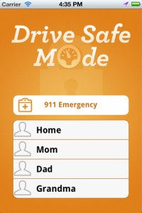 Iphone app for safe driving