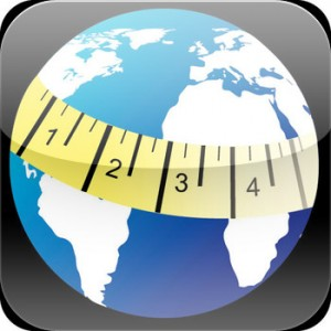 Iphone app to measure the distance